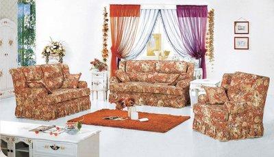 【大熊傢俱】A30B 玫瑰系列歐式 休閒沙發 多件沙發組  美式皮沙發 皮沙發 布沙發  絨布沙發歐式沙