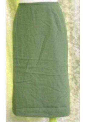 ~麗麗ㄉ大碼舖~F(28吋)橄欖綠色後拉鍊式後岔短裙~全賣場3件免郵
