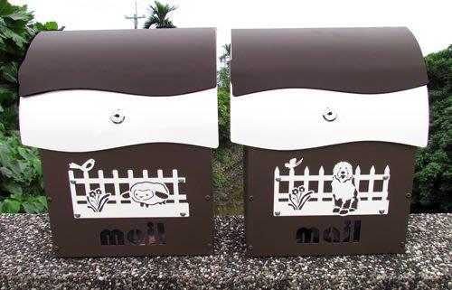 ☆成志金屬☆彩色鋁合金超漂亮信箱(小)--有鎖--沉咖啡經典款,可客製門牌。民宿家用皆宜
