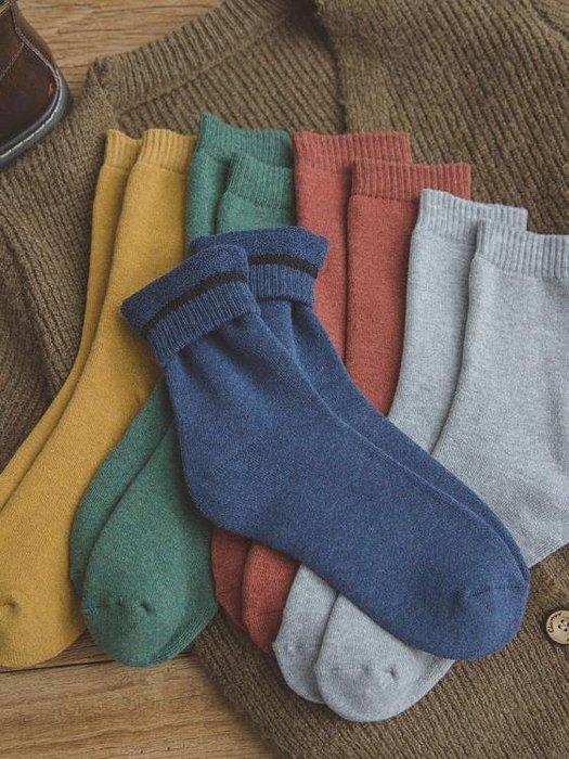 厚襪子男冬季加厚純棉中筒襪加絨