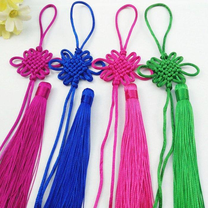【螢螢傢飾】中國結6盤結加單穗套裝 手工編織臺灣線材吊飾繩 工藝品 家居品.