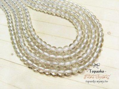 《晶格格的多寶格》串珠材料˙天然石配件 天然A級清透料白水晶4mm圓珠一份(95P)【S301-04】條珠/佛珠