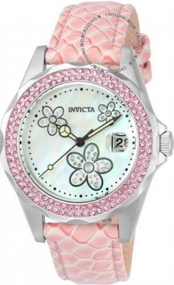 展示品 Invicta 23551 Angel Quartz Crystal Accents Mother of Pearl Pink Women's