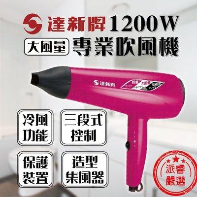【達新牌1200W專業吹風機】吹風機/達新牌/沙龍級/大風量/冷風功能/TTS-2333【LD189】