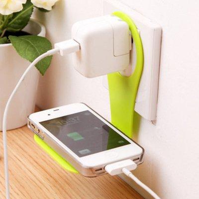 創意便利折疊懸掛手機支架 多功能充電家居伴侶手機充電架【庫奇小舖】【S204】