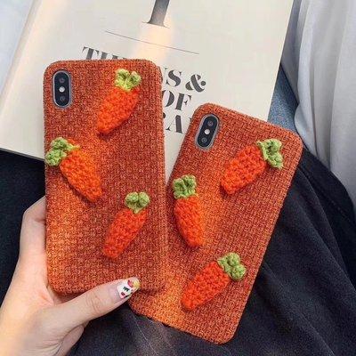 ☆韓元素╭☆Mobile-Style 紅蘿蔔 iPhone 11 保護套 6.1吋 硬式絨毛殼 可愛 創意 冬季限定
