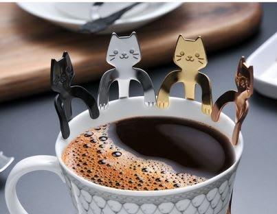 【CPE-MER】貓奴必買 304不銹鋼貓咪咖啡勺杯緣貓 婚禮小物 貓咖啡勺 貓咪湯匙 貓湯匙 不鏽鋼湯匙