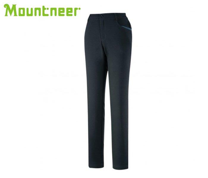 丹大戶外【Mountneer】山林休閒 女SOFT SHELL窄管保暖長褲 32S08-82 灰藍