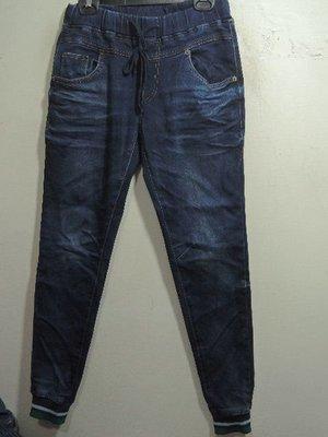 正韓 WINDY 牛仔藍色休閒縮口彈性牛仔褲(S)(特價出清)