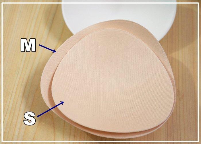 KINI泳具-M(一般尺寸)-特價一對109元-泳裝罩杯/泳衣用胸墊[柔軟型三角微圓款-淡膚色]