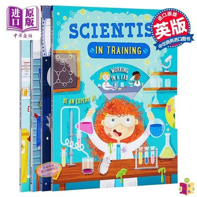 [文閲原版]兒童STEM知識百科繪本4冊 英文原版 Astronaut/Scientist/Engineer/Docto