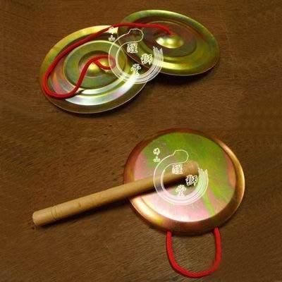 【兒童鑼鈸套裝-直徑12cm-1套/組】鍍鋅鐵製造適用4-12歲兒童舞獅醒獅表演道具-3001002