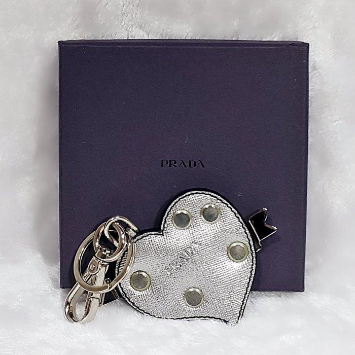 *旺角名店* ㊣ Prada saffiano 掛飾 吊飾 鑰匙圈 情人節禮物 生日禮物