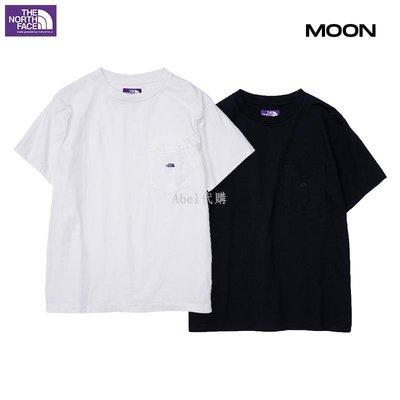 Abel代購 潮牌現貨 THE NORTH FACE 7oz H/S Pocket Tee紫標刺繡短袖T恤