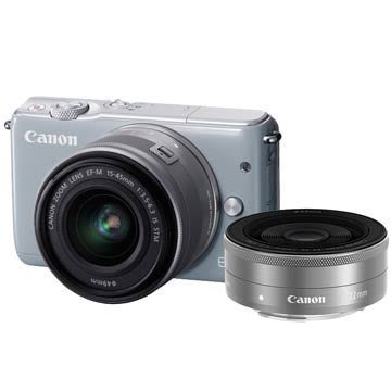<晶準數位>刷卡分12期賣場,Canon EOS M10 15-45mm STM+22mm STM (平輸貨)白色 !