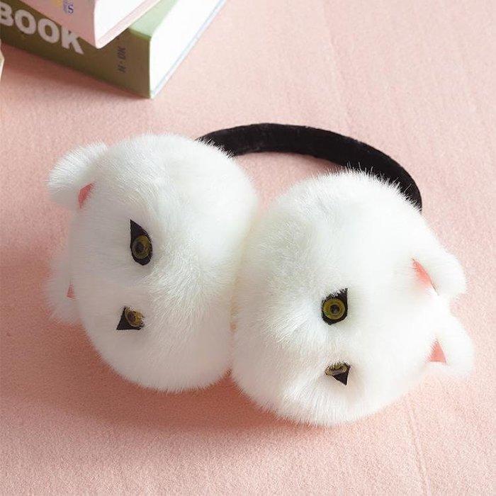 可愛女士耳包卡通護耳罩耳套毛絨純色保暖耳暖