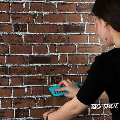 墻貼-加厚磚紋磚塊PVC墻紙自粘防水墻...