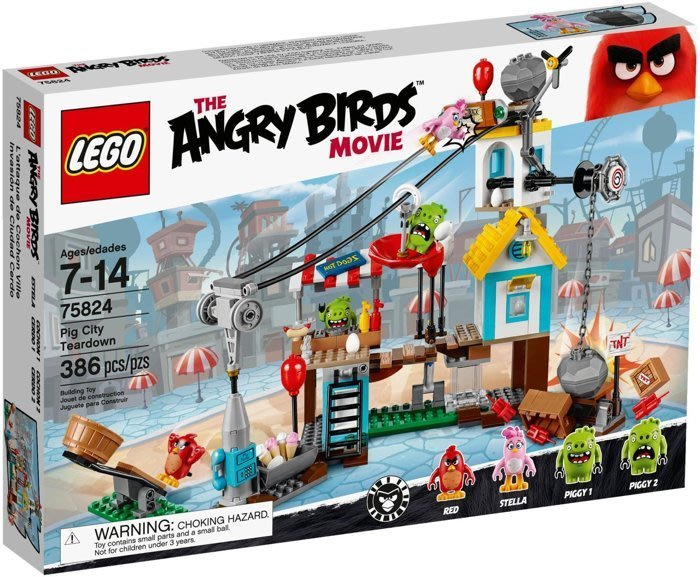 【LEGO 樂高】全新正品 益智玩具 積木/ Angry Birds 憤怒鳥玩電影 豬豬城鎮戰 銳德Red 75824