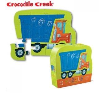 【小糖雜貨舖】美國 Crocodile Creek 迷你 造型 拼圖 系列 - 傾卸車