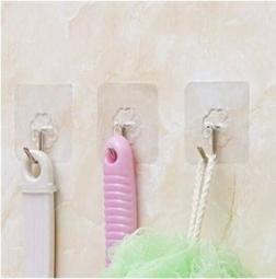 【拉拉Lala's shop】透明粘貼掛鉤無痕門後粘膠掛勾廚房牆壁強力免釘魔力貼粘鉤