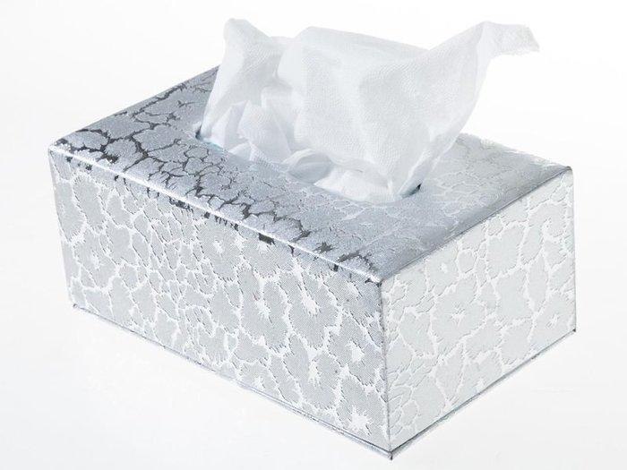 歐式抽取式面紙盒 皮革面料衛生紙盒 – 中 – 銀閃電 ZA-42368