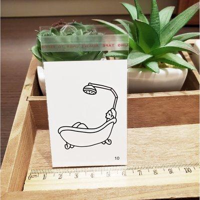 【萌古屋】百態人10單圖 - 男女防水紋身貼紙刺青貼紙 K43