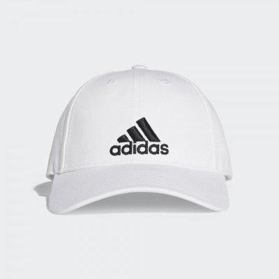 ADIDAS LOGO CAP 白黑 六片帽 刺繡 經典LOGO 鴨舌帽 棒球帽 老帽 運動 S98150 YTS