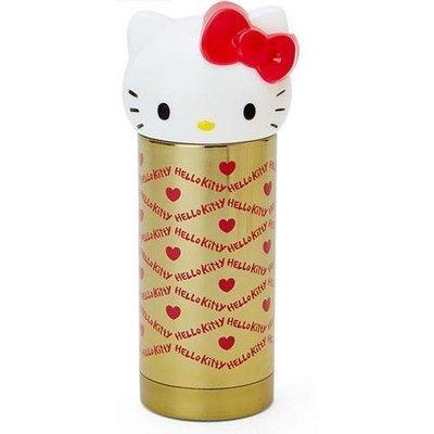 【日本商品】  Hello Kitty不銹鋼保溫杯瓶360ml (金)  滿2000免運   ☆天然保養品達人☆