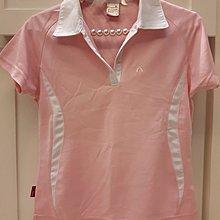 粉紅色 運動POLO衫 吸濕排汗衫 S號