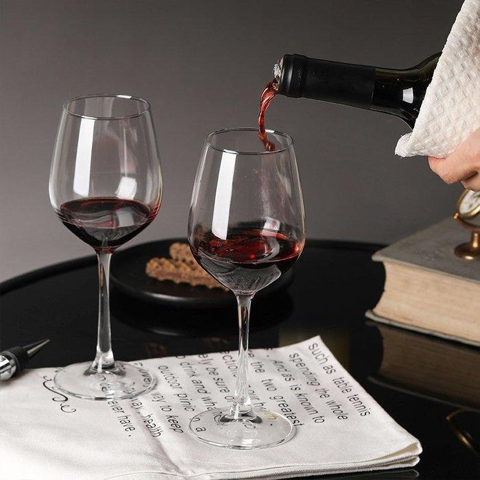 紅酒杯玻璃杯家用高腳杯兩只套裝大號葡萄酒杯2只裝醒酒器酒吧KTV歐式酒杯