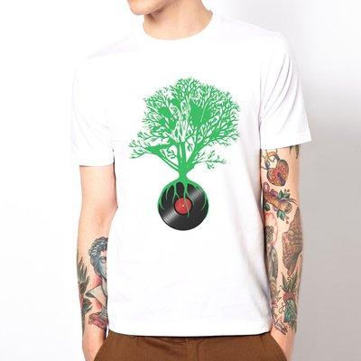 Record not dead 短袖T恤 白色 DJ唱片不死人物相片潮流搖滾樂團藝術趣味幽默290 gildan