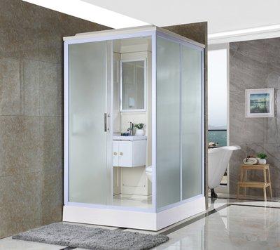FUO衛浴:140X120公分 免防水工程 雅房變套房 側開門 整體式衛生間(不含馬桶) WX911 預訂!