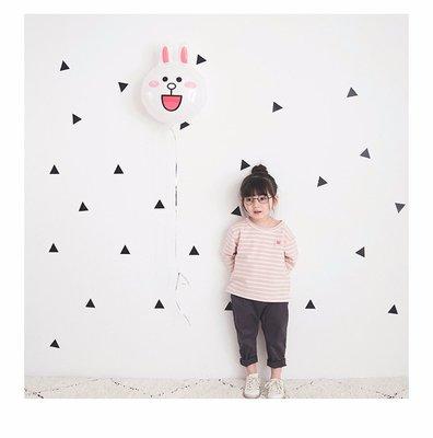 【Mr. Soar】 H228 春季新款 韓國style童裝女童條紋長袖上衣 現貨