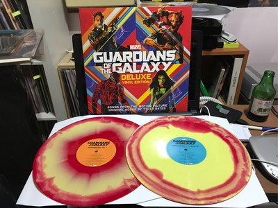 星際異攻隊-電影原聲帶/Guardians of the Galaxy  兩片裝 染色彩膠 全新已拆封