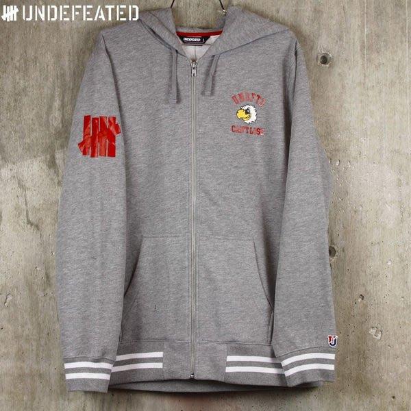 【現貨 】全新正品 2012 A/W 秋季最新款 Undefeated Cant Loose Zip Hoodie 拉鍊 外套 灰色 S M L XL