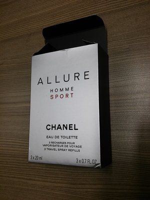 Chanel Allure Home Sport香水瓶包裝紙盒/ 右下角有撞痕/ 尺寸: 7.2*10.5*3公分 新北市
