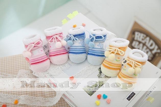 mandyshop【CB03】台灣製0-6個月Baby/新生兒/寶寶針織襪