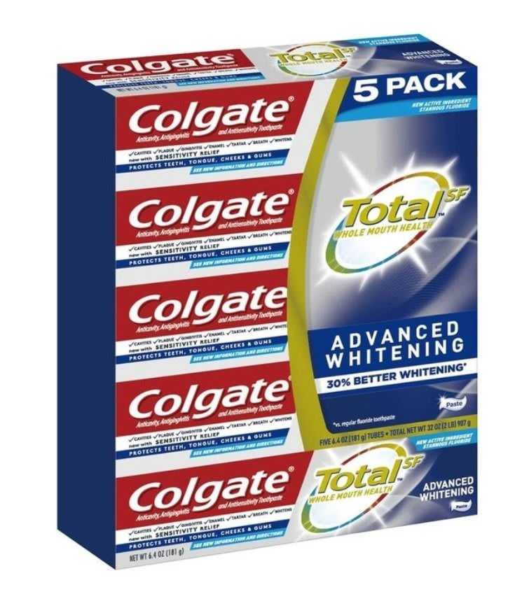 【COSTCO好市多商品代購】Colgate 全效潔白牙膏 181公克 5入