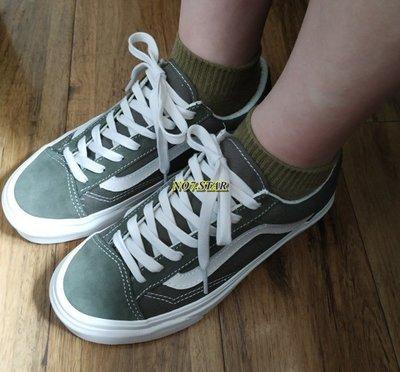 Vans Style 36 Old Skool 短頭 麂皮 帆布 橄欖綠 白線 墨綠 滑板 男女鞋VN0A3DZ3VTF