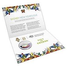 Cs🇦🇺 澳洲 2015年 雪梨跨年煙火1/2盎司精鑄銀幣 澳大利亞 雪梨歌劇院 雪梨大橋 新年 除夕夜 節慶 紀念幣 彩色硬幣 卡幣 卡片 特殊幣 限量