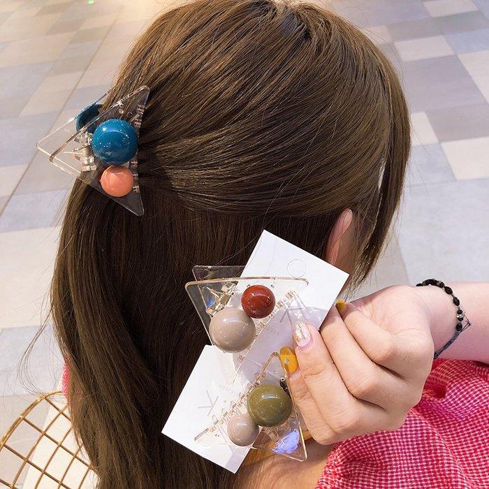 🇰🇷 現貨 東大門的來一個 韓風 透明糖果球球 鯊魚夾 髮夾 居家髮飾抓夾 劉海夾 長髮短髮(ZFS14)