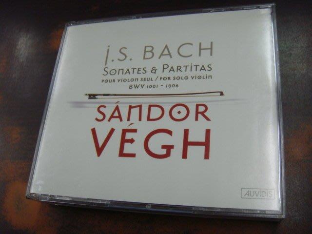好音悅 Sandor Vegh Bach 巴赫 巴哈 無伴奏小提琴 奏鳴曲 組曲 2CD AUVIDIS 法版