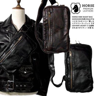 Cover Taiwan 官方直營 HORSEHIDE 真皮 馬皮 機車包 斜背包 側背包 腰包 黑色 棕色 (預購)