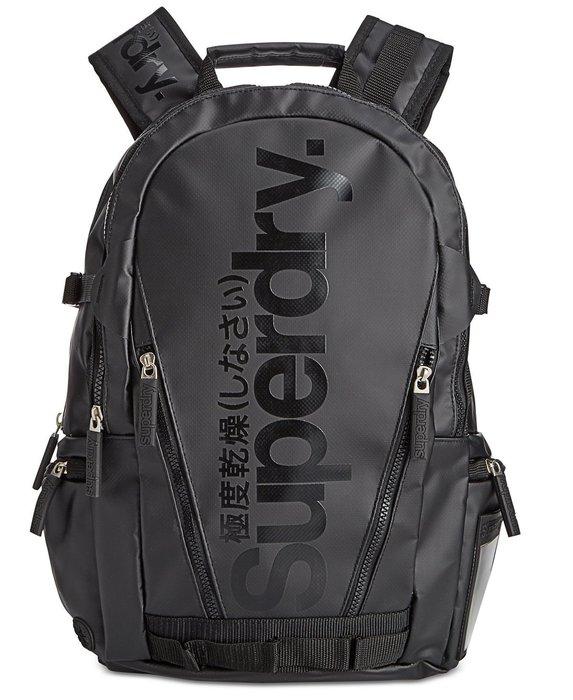 現貨 超取免運【 SUPERDRY 極度乾燥 】100% 全新正品 超夯 多功能後背包 / 黑色 B03