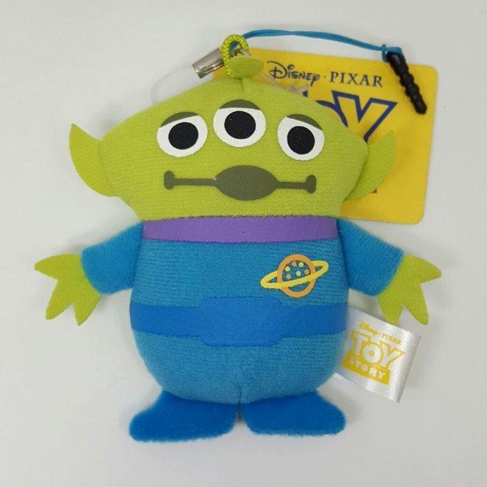 【UNIPRO】 三眼怪 Alien 3.5mm 手機 平板 絨毛防塵塞 吊飾 玩偶 日貨 玩具總動員