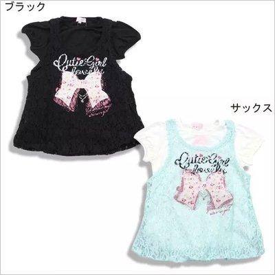 日本 CRT-Cutie 款全棉假2件👧 tee + lace 背心