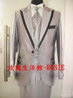 【演出show】~ 灰色西裝套裝 紳士豪門風*(此款偏大碼,約比一般版大一碼)
