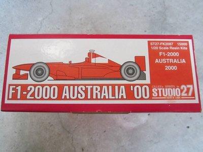 【現貨】STUDIO27 1/20 F1-2000 AUSTRALIA '00 FERRARI 法拉利 FK2087