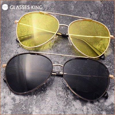 眼鏡王☆雷朋時尚流行鏡腳設計高級金屬質感水銀帥氣太陽眼鏡墨鏡藍黃黑銀色S292