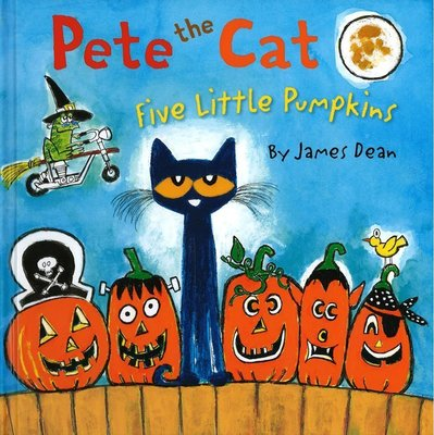 *小貝比的家*PETE THE CAT: FIVE LITTLE PUMPKINS /精裝/3~6歲[萬聖節]